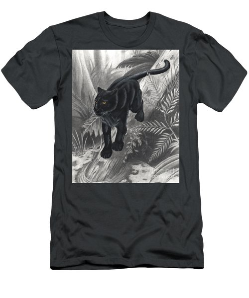 Panther By The Water Men's T-Shirt (Athletic Fit)