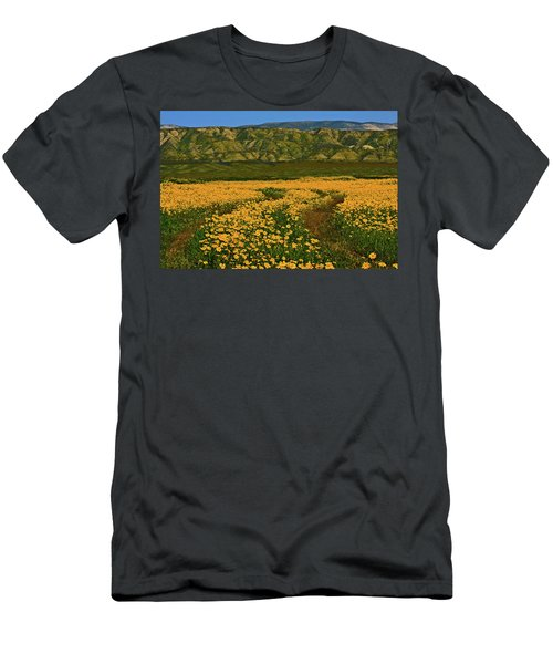 Path Through The Wildflowers Men's T-Shirt (Athletic Fit)