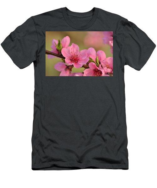 Peach Beautiful Men's T-Shirt (Athletic Fit)