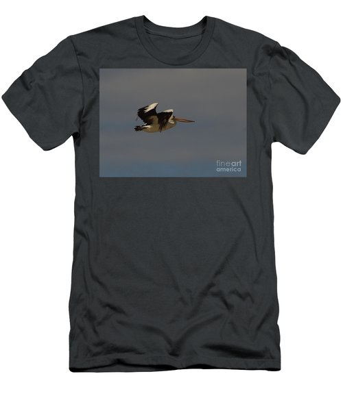 Men's T-Shirt (Slim Fit) featuring the photograph Pelican In Flight 3 by Blair Stuart