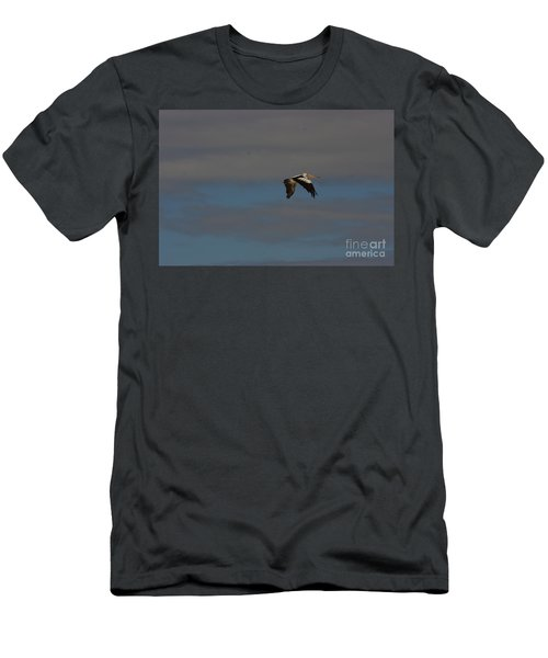 Men's T-Shirt (Slim Fit) featuring the photograph Pelican In Flight 4 by Blair Stuart