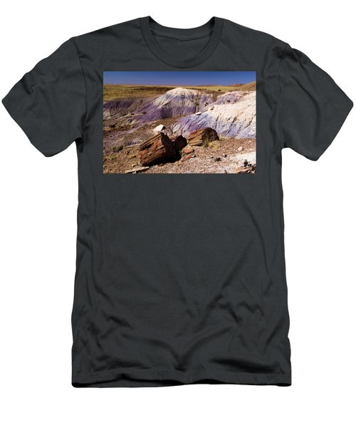 Petrified Logs In The Badlands Men's T-Shirt (Athletic Fit)