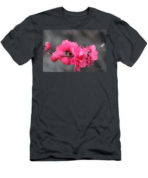 Men's T-Shirt (Slim Fit) featuring the photograph Pink Blossoms  by Amy Gallagher