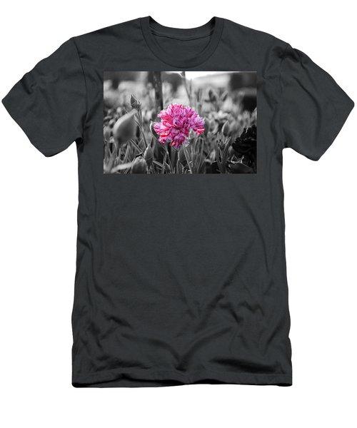 Pink Carnation Men's T-Shirt (Slim Fit) by Sumit Mehndiratta