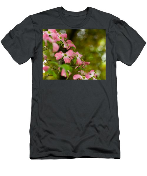 Pink Dogwood Blooms Men's T-Shirt (Athletic Fit)