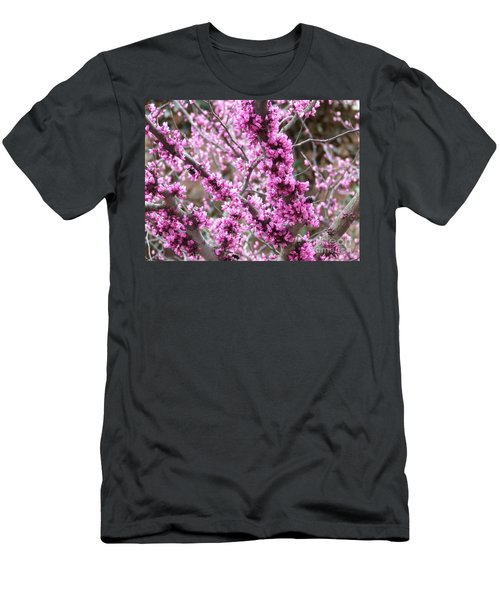 Men's T-Shirt (Slim Fit) featuring the photograph Pink Flower by Andrea Anderegg