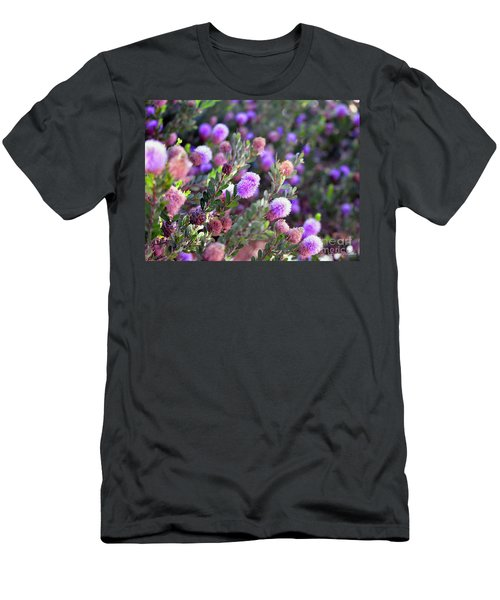 Men's T-Shirt (Slim Fit) featuring the photograph Pink Fuzzy Balls by Clayton Bruster