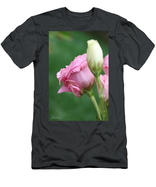Pink Lisianthus Men's T-Shirt (Athletic Fit)