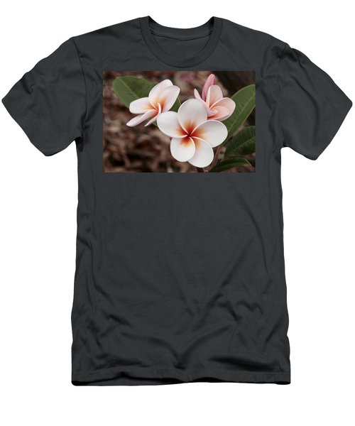 Plumeria   Kona Hawii Men's T-Shirt (Slim Fit) by James Steele