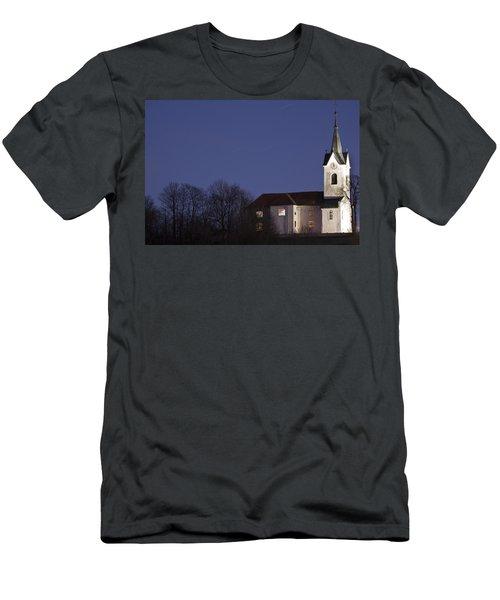 Prezganje Church At Dusk Men's T-Shirt (Athletic Fit)
