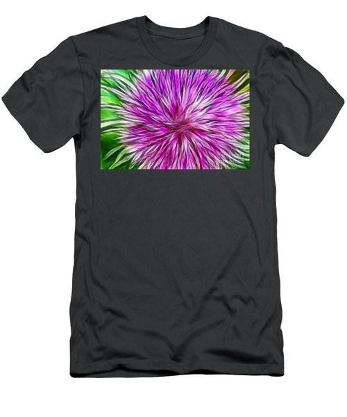 Purple Flower Fractal Men's T-Shirt (Athletic Fit)