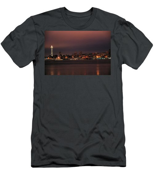 Purple Sky Morning Men's T-Shirt (Athletic Fit)