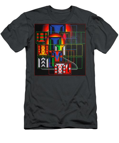 Men's T-Shirt (Slim Fit) featuring the painting Quazar by Mark Howard Jones