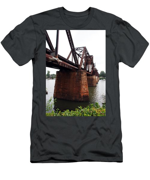 Men's T-Shirt (Slim Fit) featuring the photograph Railroad Bridge 1 by Kay Lovingood