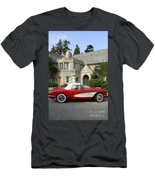 Red Corvette Outside The Playboy Mansion Men's T-Shirt (Athletic Fit)