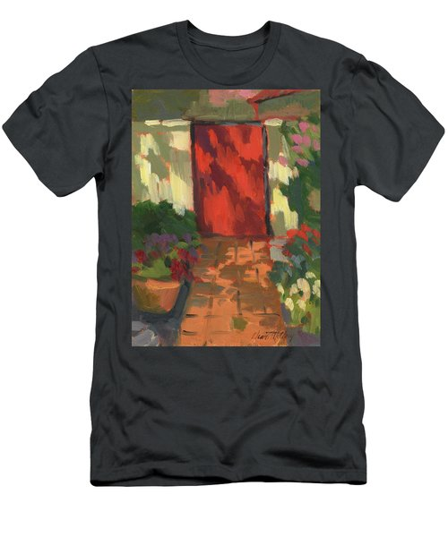 Red Door - Shadow And Light Men's T-Shirt (Athletic Fit)