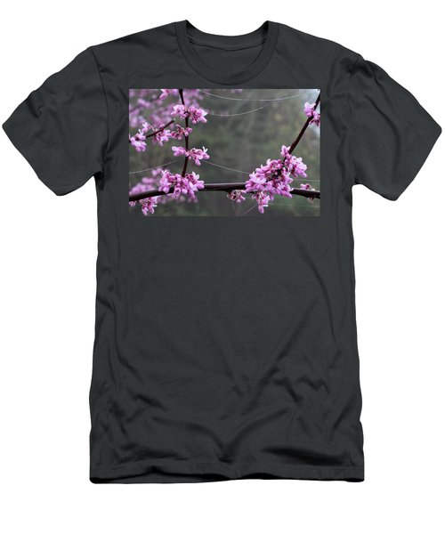 Redbud With Webs And Dew Men's T-Shirt (Athletic Fit)