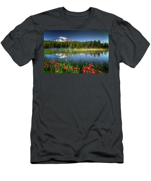 Men's T-Shirt (Slim Fit) featuring the photograph Reflection Lakes by William Lee