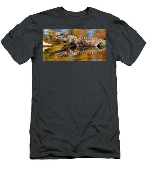 Relection Of An Alligator Men's T-Shirt (Athletic Fit)