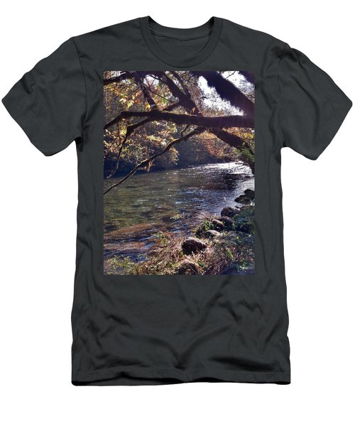 Men's T-Shirt (Slim Fit) featuring the photograph Rivee View by Janice Spivey