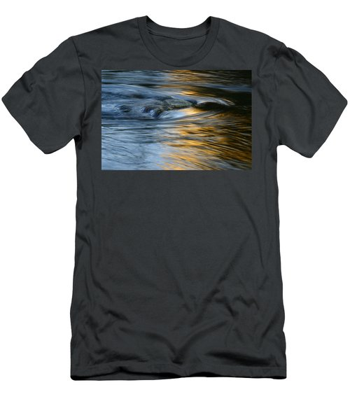 Rock And Blue Gold Water Men's T-Shirt (Athletic Fit)