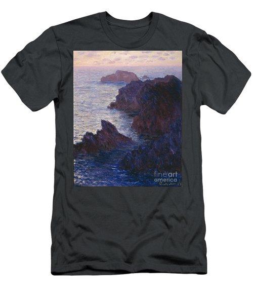 Rocks At Bell Ile Port Domois Men's T-Shirt (Athletic Fit)