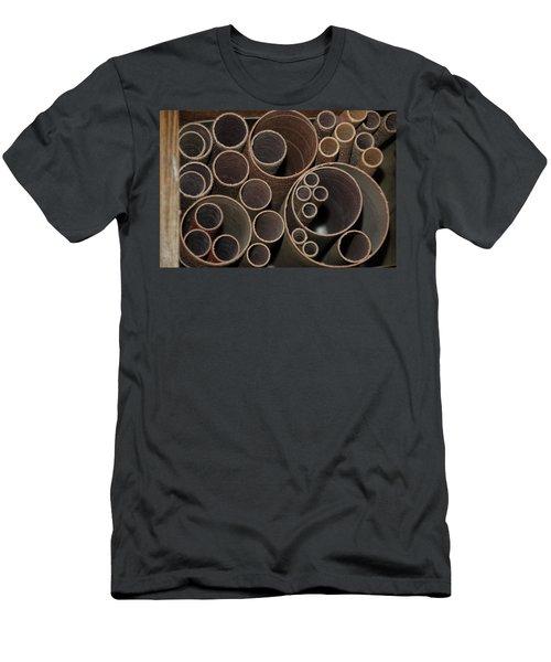 Round Sandpaper Men's T-Shirt (Athletic Fit)