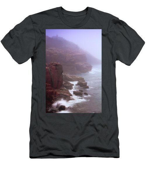 Rugged Seacoast In Mist Men's T-Shirt (Athletic Fit)