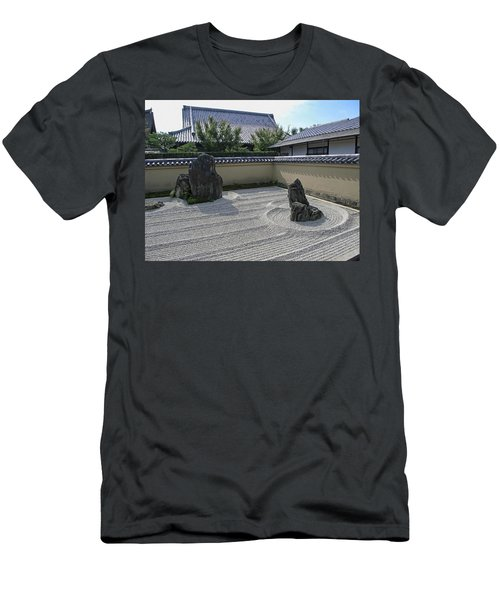 Ryogen-in Raked Gravel Garden - Kyoto Japan Men's T-Shirt (Athletic Fit)