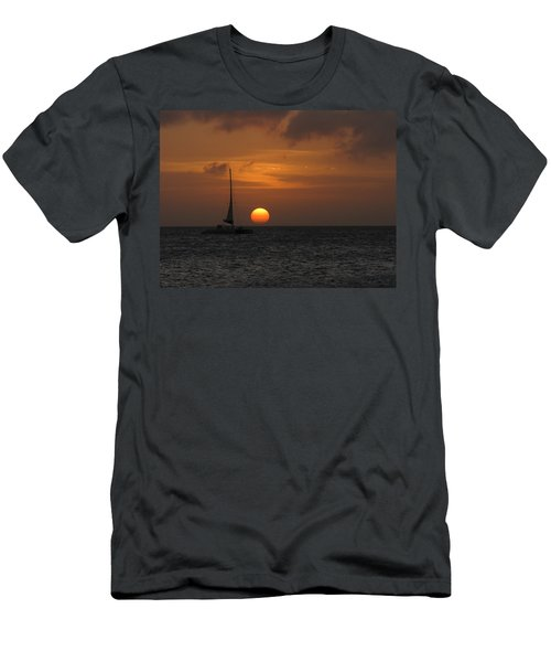 Men's T-Shirt (Slim Fit) featuring the photograph Sailing Away by David Gleeson