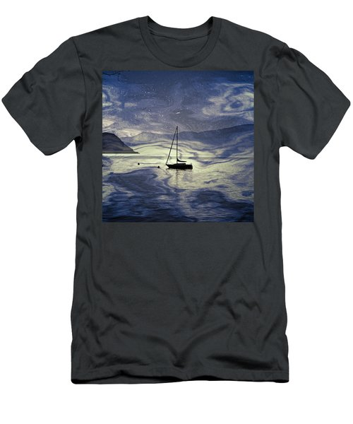 Sailing Boat Men's T-Shirt (Athletic Fit)
