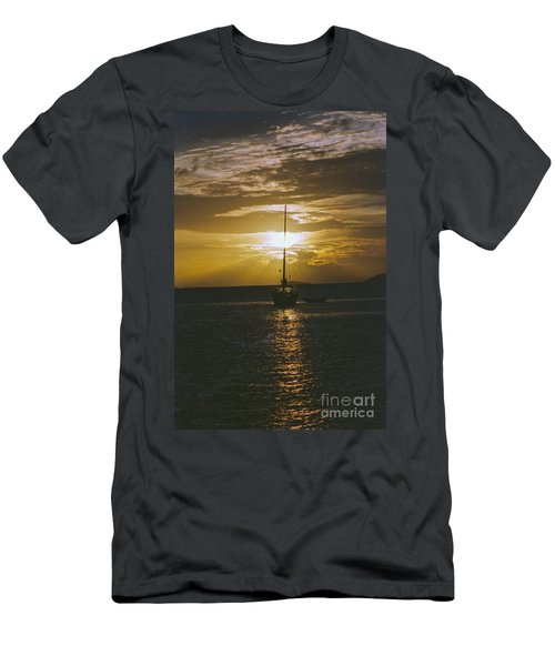 Sailing Sunset Men's T-Shirt (Slim Fit) by William Norton