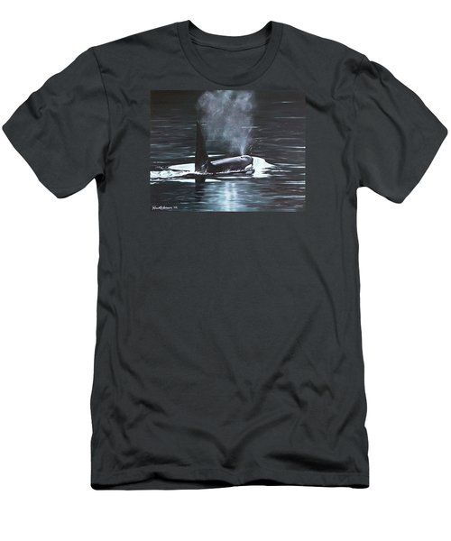 Men's T-Shirt (Athletic Fit) featuring the painting San Juan Resident by Kim Lockman