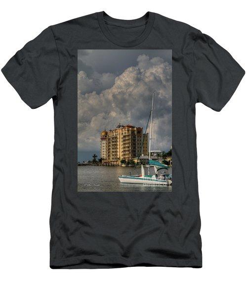 Sarasota Harbor View Men's T-Shirt (Athletic Fit)