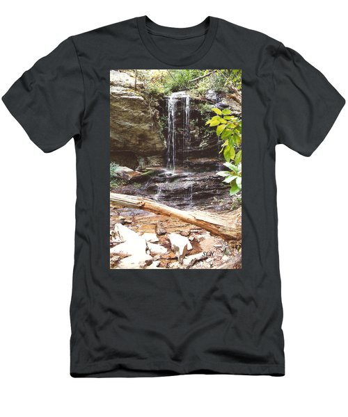 Scenic Waterfall Men's T-Shirt (Athletic Fit)