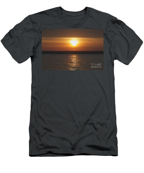 Men's T-Shirt (Slim Fit) featuring the photograph Seneca Lake Sunrise by William Norton