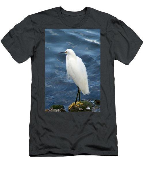 Snowy Egret 1 Men's T-Shirt (Athletic Fit)