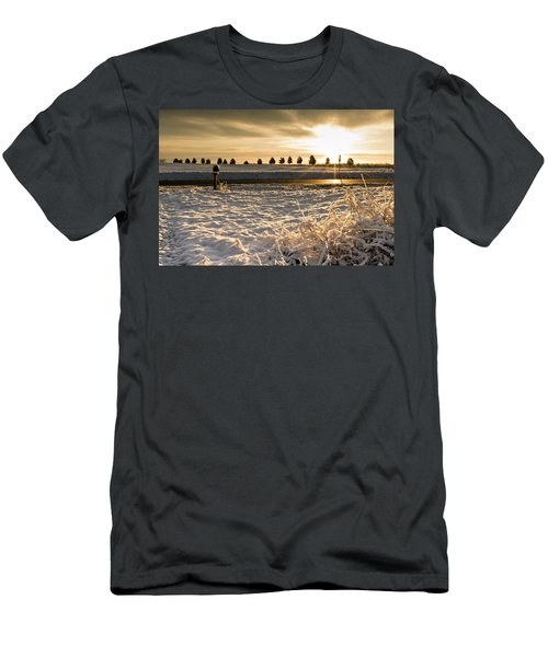 Snowy Sunrise Men's T-Shirt (Athletic Fit)