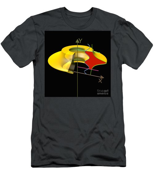 Men's T-Shirt (Slim Fit) featuring the digital art Solid Of Revolution 6 by Russell Kightley