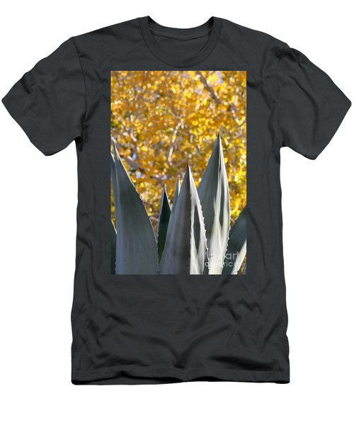 Spikes And Leaves Men's T-Shirt (Slim Fit) by Alycia Christine