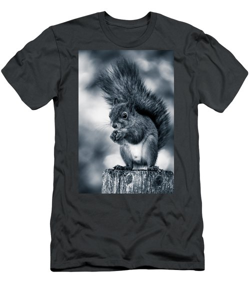 Squirrel In Monochrome Men's T-Shirt (Athletic Fit)