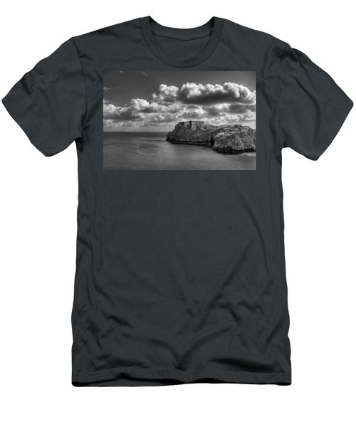 Men's T-Shirt (Slim Fit) featuring the photograph St Catherines Rock Tenby by Steve Purnell