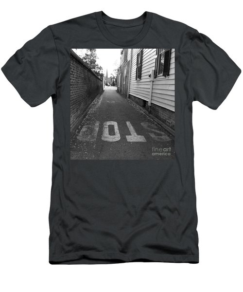 Men's T-Shirt (Slim Fit) featuring the photograph Stop by Andrea Anderegg