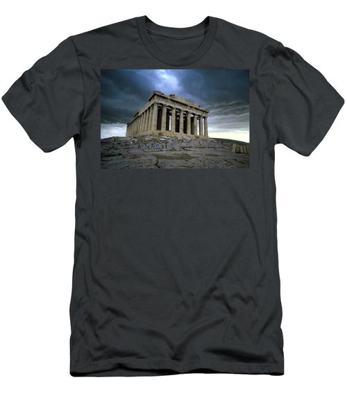 Storm Over The Parthenon Men's T-Shirt (Athletic Fit)