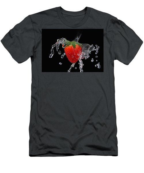 Strawberry-splash Men's T-Shirt (Athletic Fit)