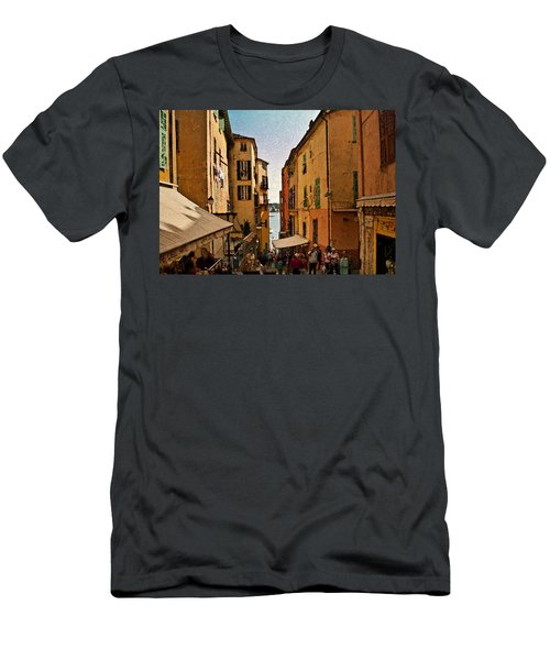 Street In Villefranche II Men's T-Shirt (Athletic Fit)