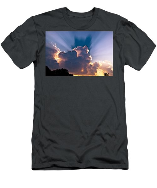 Sun Rays And Clouds Men's T-Shirt (Athletic Fit)