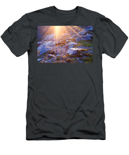 Men's T-Shirt (Slim Fit) featuring the photograph Sunburst Over Abyss Lake by Jim Garrison