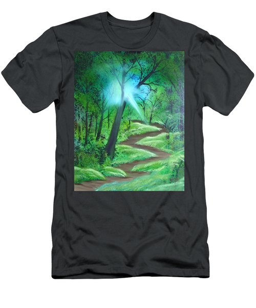 Sunlight In The Forest Men's T-Shirt (Athletic Fit)