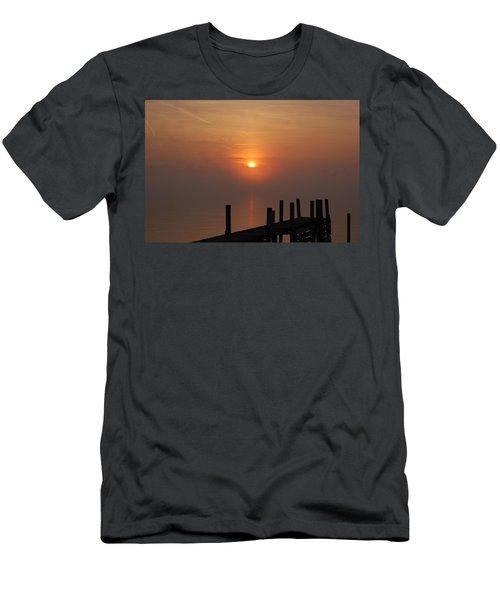 Sunrise On The River Men's T-Shirt (Slim Fit) by Randy J Heath